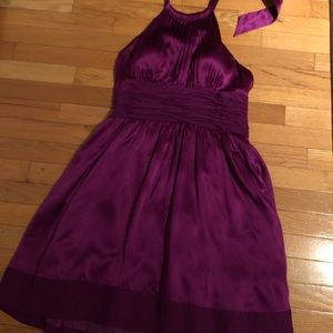 Purple Halter Dress - Adrianna Papell